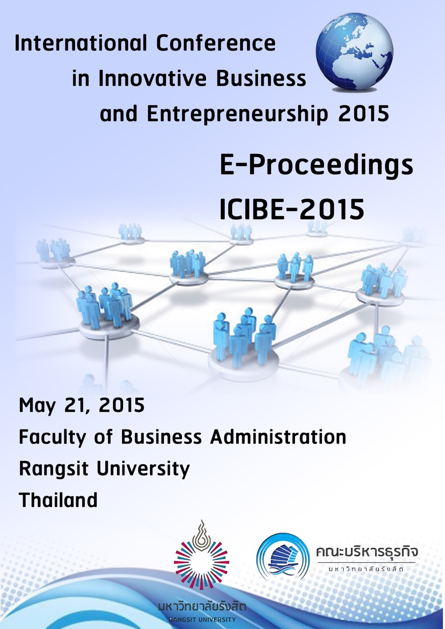 E – Proceeding of  International Conference in Innovative Business  and Entrepreneurship  2015